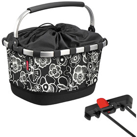 KlickFix Reisenthel Carrybag GT Bike Basket for Racktime, fleur black